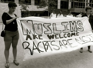 MelanieLazarow_Muslims are welcome racists are not