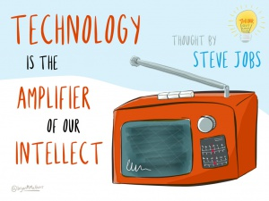 Technology is the amplifier, foto Bryan Mathers