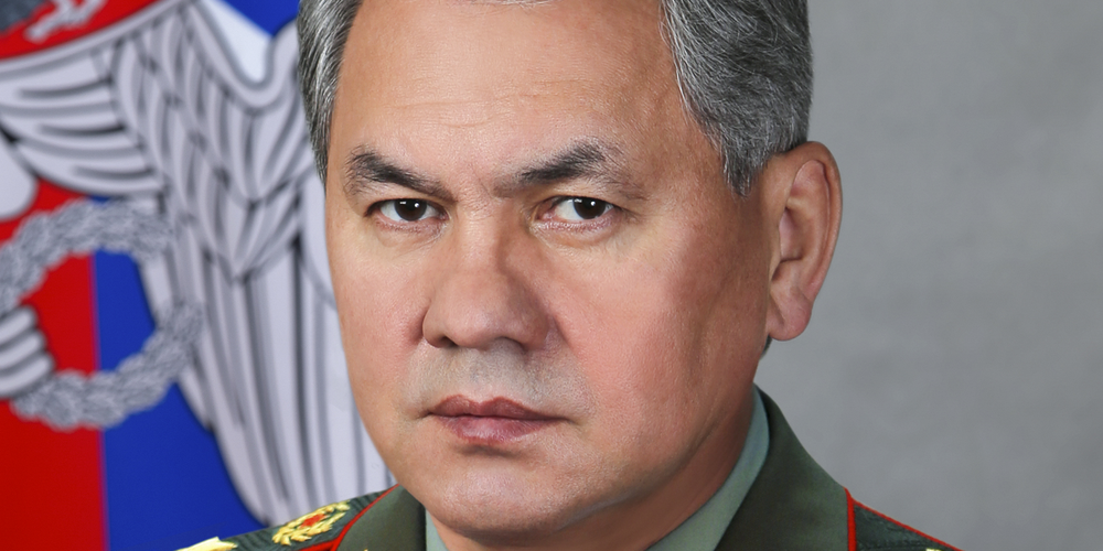 Official portrait of Sergey Shoigu Ministry of Defence cr