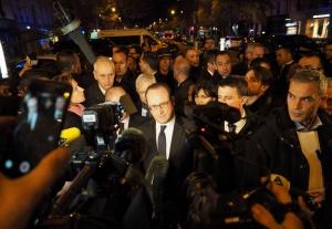 President François Hollande navštívil místo teroristického útoku, foto: Eugen Kukla