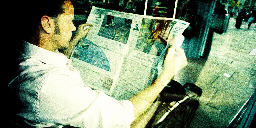 Reading the Newspaper Nick Page cr