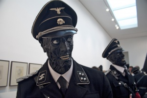 Nazi zombies - Jake or Dinos Chapman show at the White Cube Gallery in London, foto: Elias Gayles