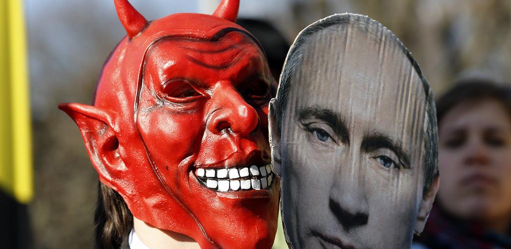 Protest gegen Putin Michaela cr