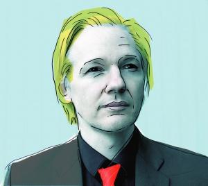 Julian Assange, autor: Jose Mesa