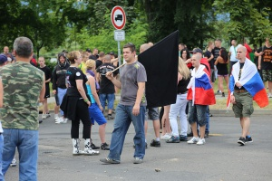 Neo-nazi rally, Duchcov, foto: Daniela Kantorova