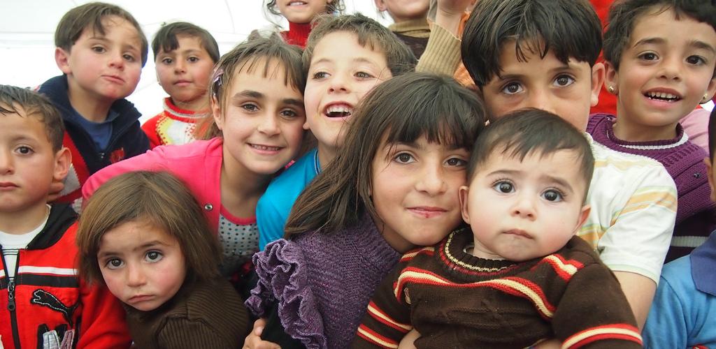 Children of Zaatari camp Oxfam International cr
