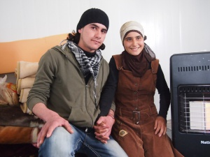 Engaged in a Syrian refugee camp Aya and Mohammed, foto:Oxfam Int.