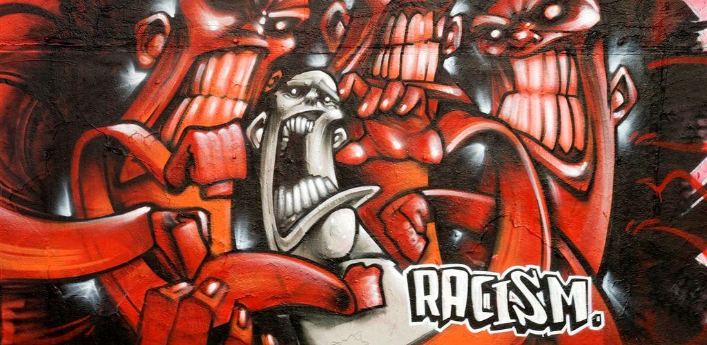 Graffiti against racism Jim Keeley cr