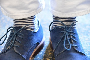 Paul Bergevin Intel Global Communications blue suede shoes, foto: Intel Free Press