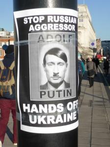 Stop Russian aggressor Adolf Putin - hands off Ukraine, foto: duncan c