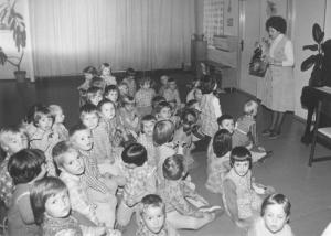 Děti ve školce při výuce o V. I. Leninovi, foto: archiv autorky