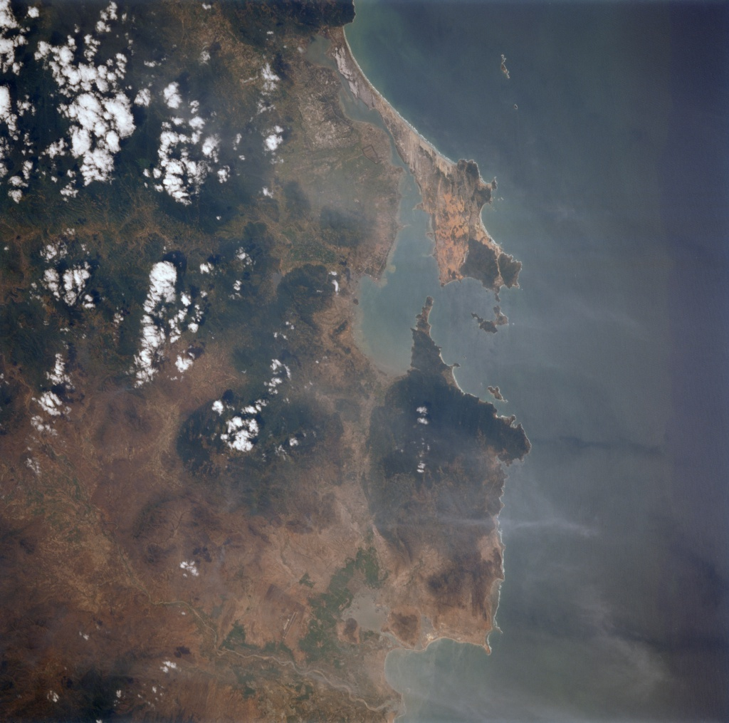 Cam Ranh Bay satellite view/NASA-JSC-ES&IA
