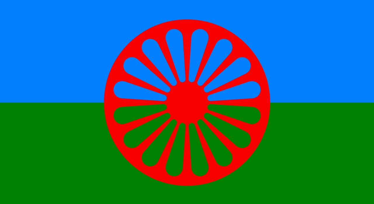 Flag of the Romani people e1466183838387