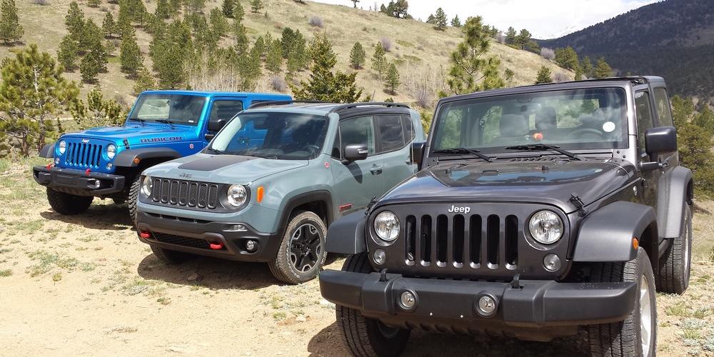 Jeep Wrangler Rubcon versus Sport versus Jeep Renegade Trailhawk