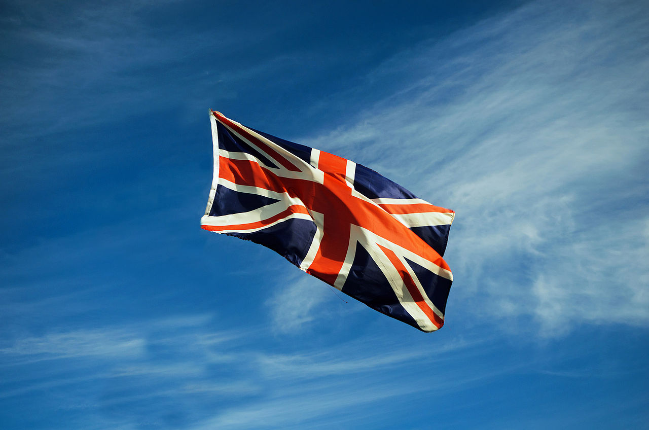 Jiri Hodan British Flag in the Air