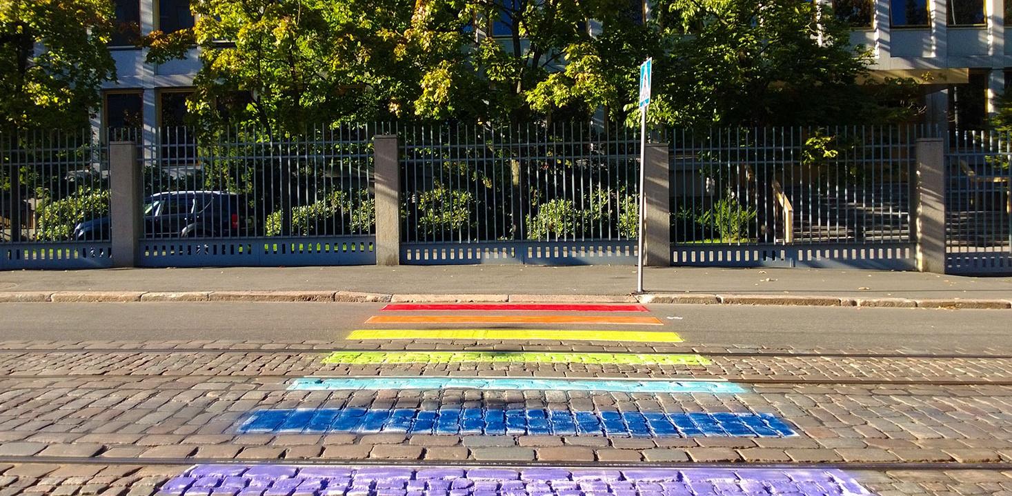 Russian Embassy in Helsinki LGBT pavement e1466940609174