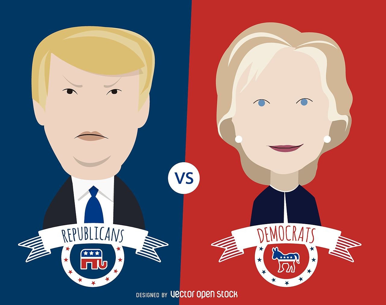 2016 Clinton and Trump VectorOpenStock  commons.wikimedia.org