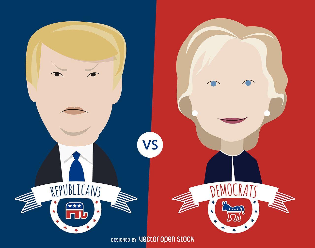 2016 Clinton and Trump VectorOpenStock  commons.wikimedia.org
