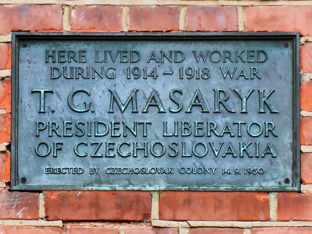 Masaryk, Black Plaque, Hampstead, London, Spudgun67