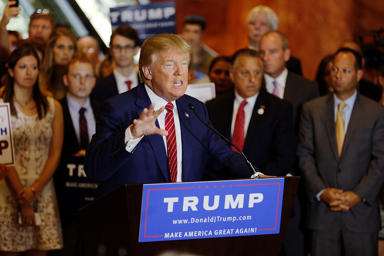 Donald Trump Signs the Pledge Michael Vadon