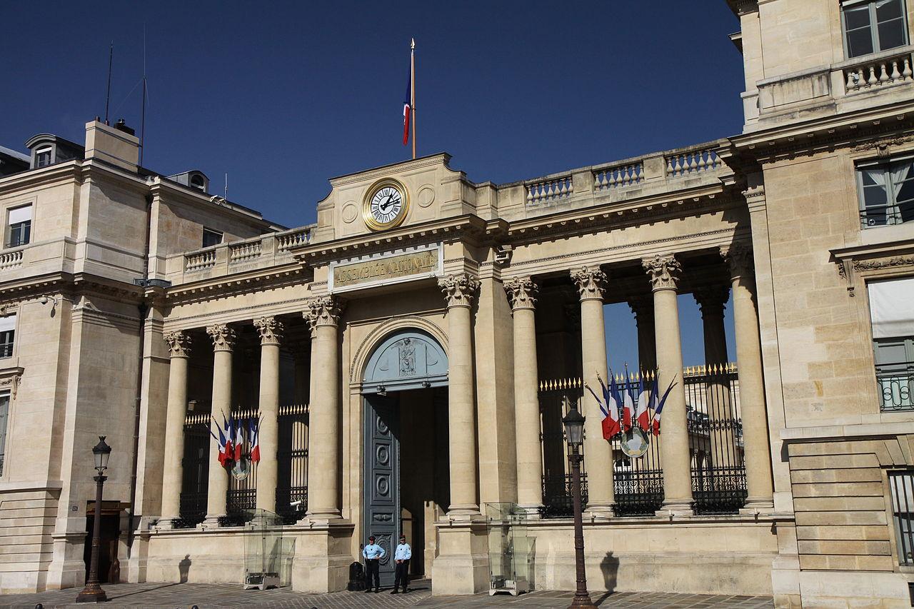 Entrée arrière de lAssemblée nationale donnant sur la place du Palais Bourbon Thesupermat