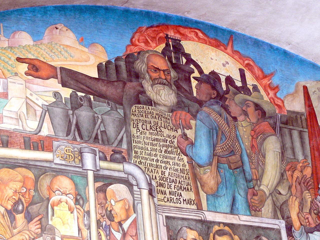 Mexico City Palacio Nacional. Mural by Diego Rivera History of Mexico Wolfgang Sauber 1