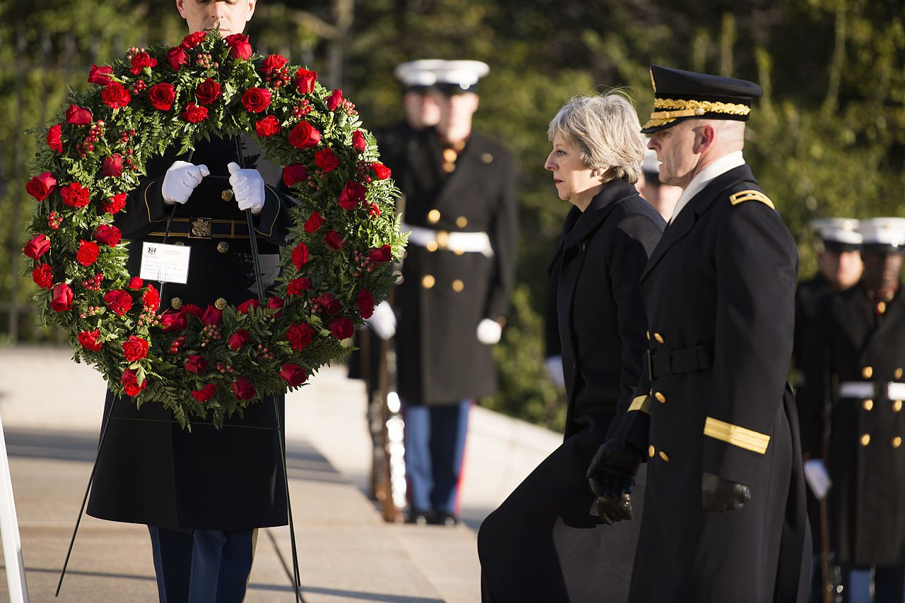 Prime Minister of the United Kingdom Theresa May visits Arlington National Cemetery U.S. Army photo by Rachel Larue