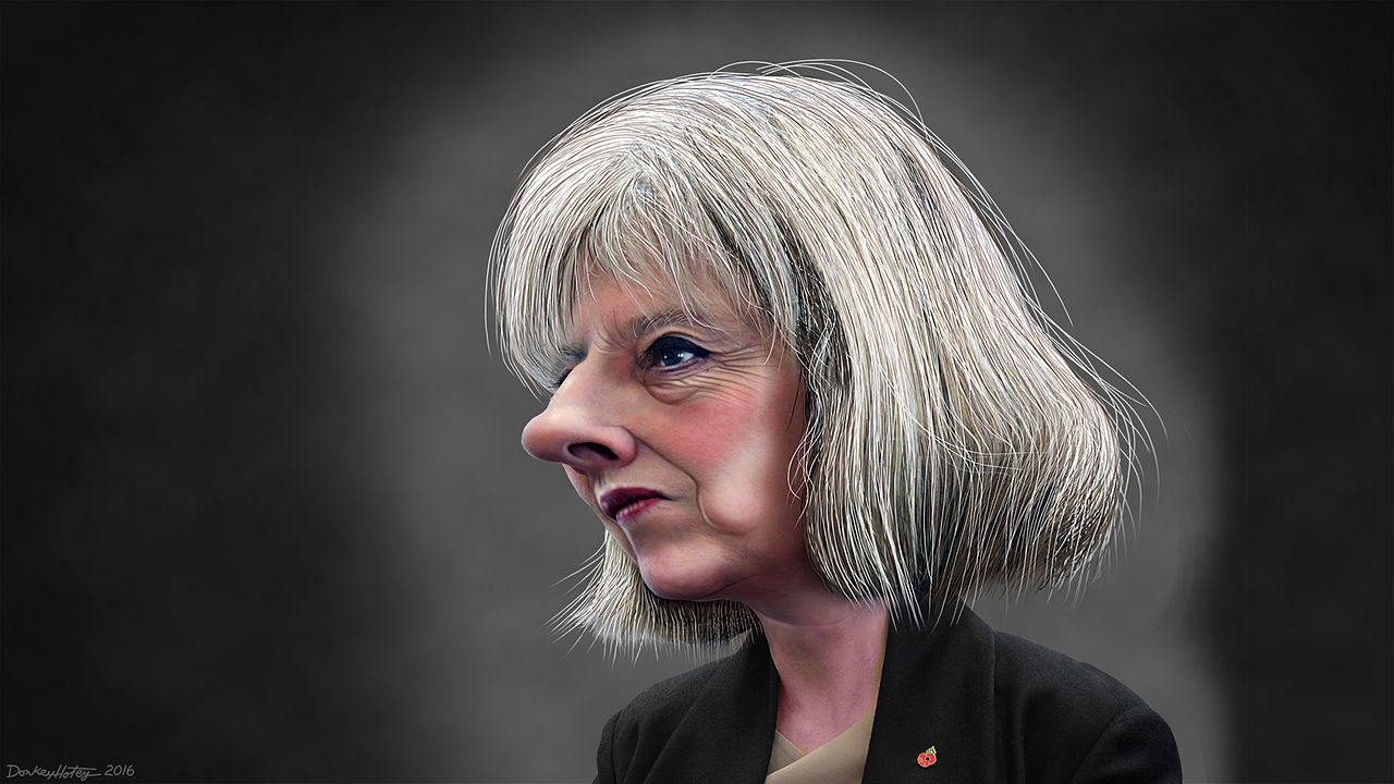 Theresa Mary May Caricature DonkeyHotey