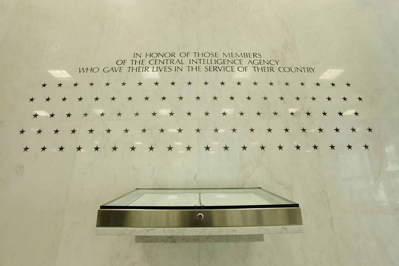 The Memorial Wall the Original Headquarters Building lobby The Central Intelligence Agency