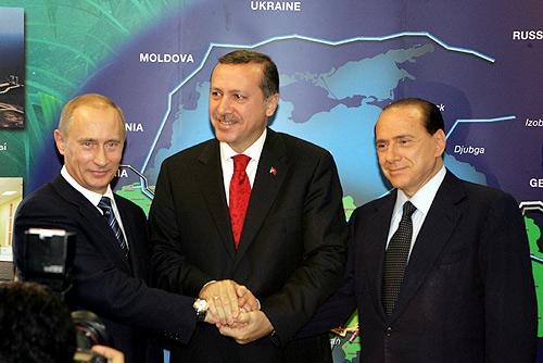 Putin, Erdogan, Berlusconi, photo Presidential Press Service