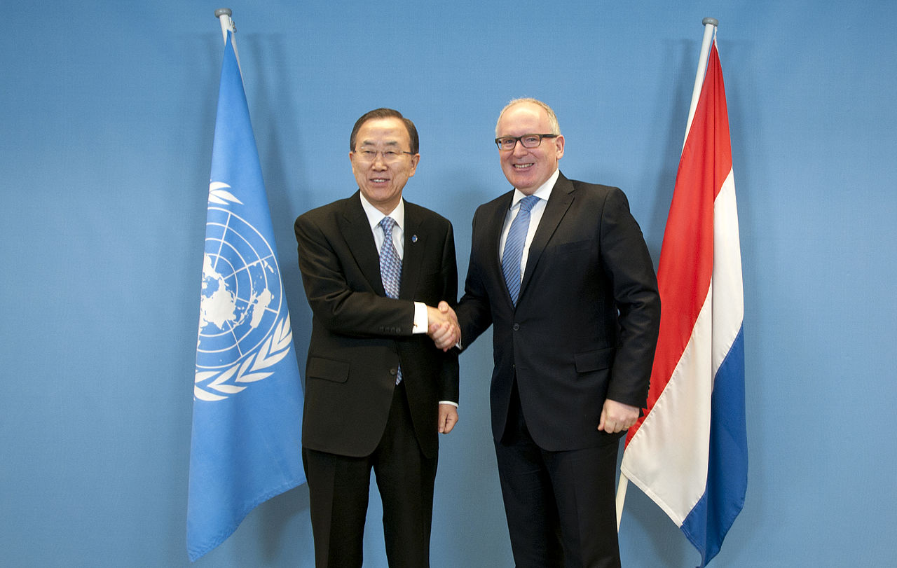 Ban Ki moon and Frans Timmermans photo Dutch Ministry of Foreign Affairs