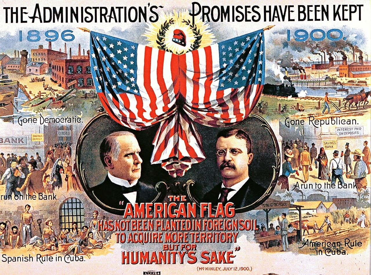 Campaign Poster from United States 1900 Presidential Election