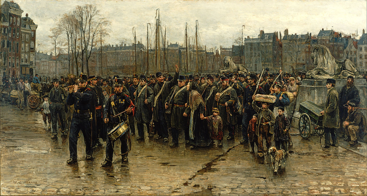 Isaac Israels Transport of Colonial Soldiers Google Art Project