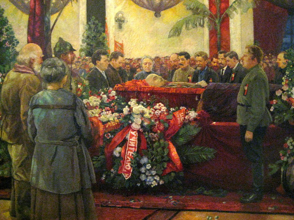 a1 Lenins Funeral by I. Brodsky 1925