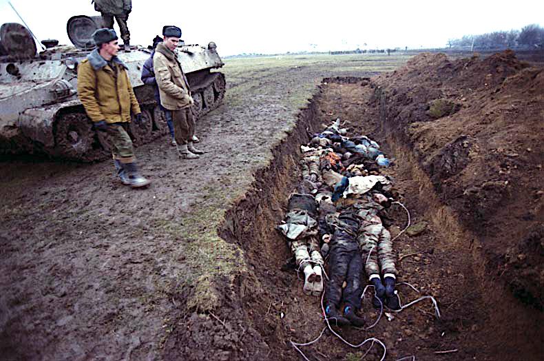 Mass Grave in Chechnya, photo by Natalia Medvedeva