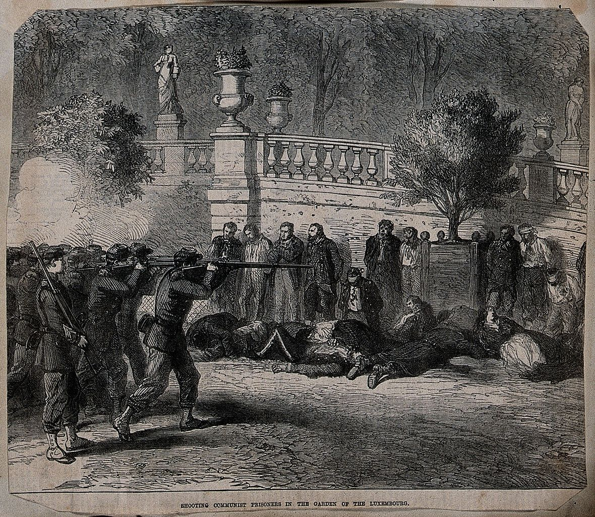 aa1 Execution of Communist prisoners in the garden of the Wellcome photo wellcomeimages.org