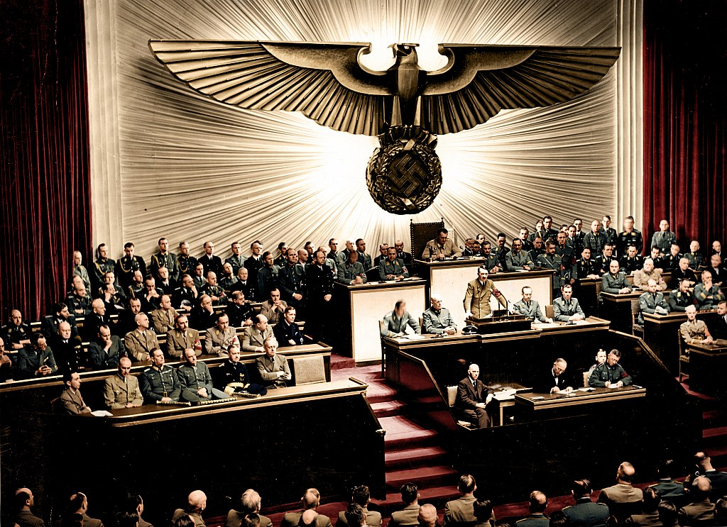 Adolf Hitler delivers a speech at the Kroll Opera House German Federal Archives