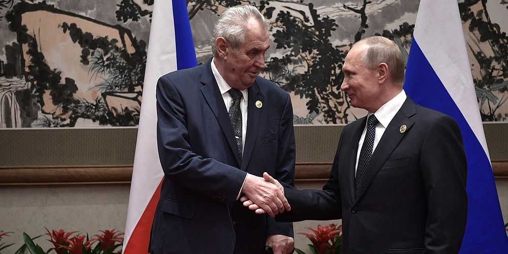 With President of the Czech Republic Milos Zeman cr