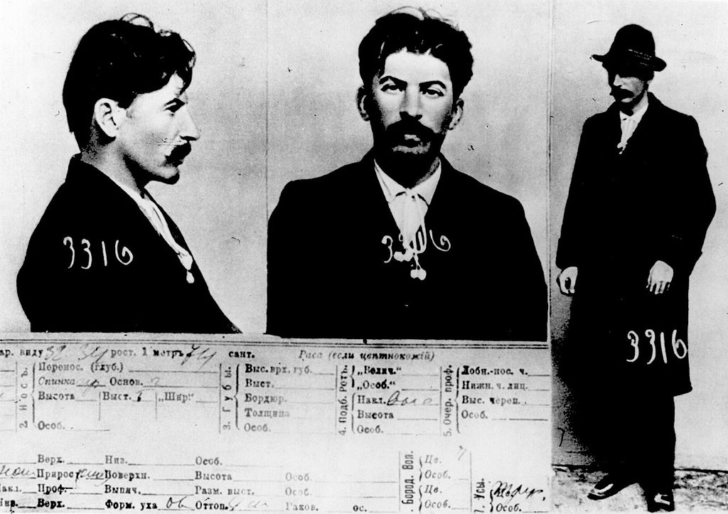 Stalins Mug Shot source Tsarist police document by commons.wikimedia.org
