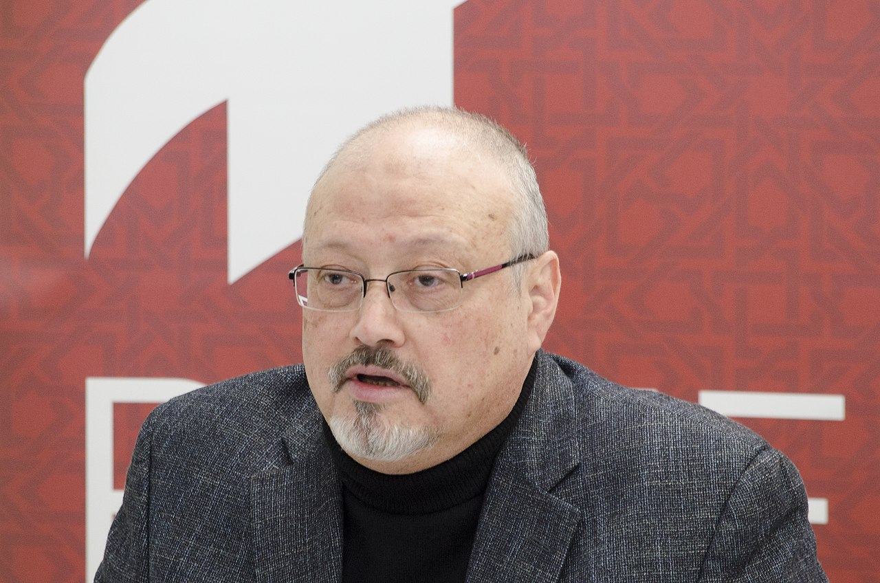 Jamal Khashoggi in March 2018 by April Brady