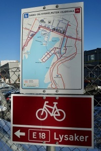 Map of Cycling infrastructure in Oslo, Norway, by Wolfmann