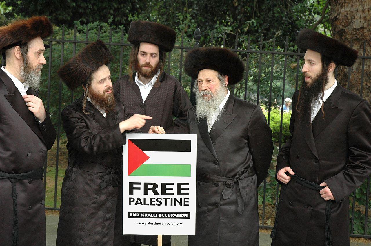 Members of Neturei Karta Orthodox Jewish group protest against Israel Peter