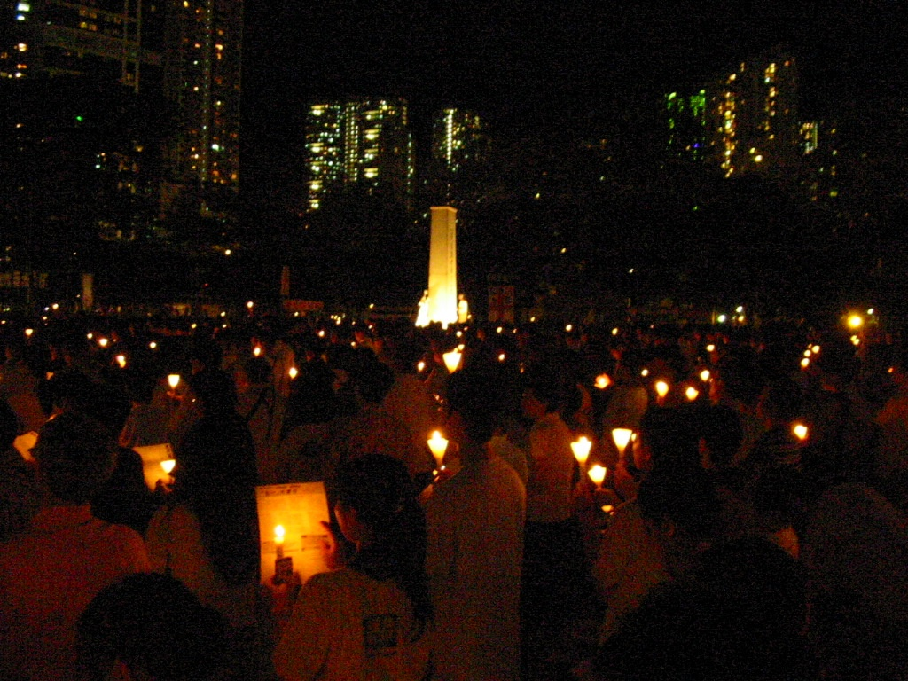 Candlelight Vigil for June 4 Massacre by Wrightbus