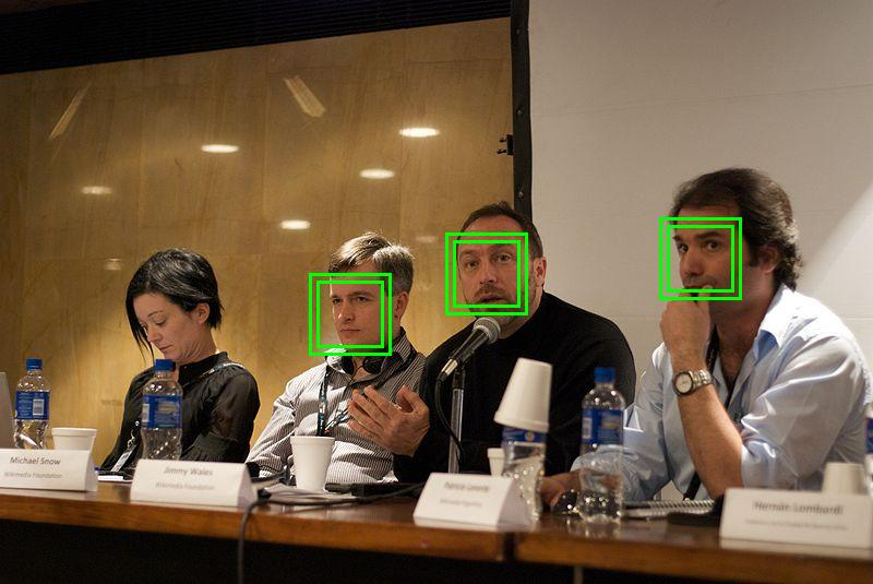 Illustration of automatic face detection by Beatrice Murch