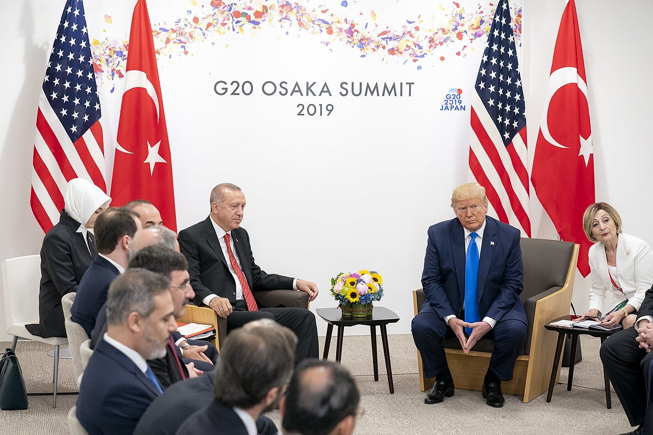 President Donald J. Trump participates in a bilateral meeting with President of the Republic of Turkey Recep Tayyip Erdogan at the G20 Japan Summit