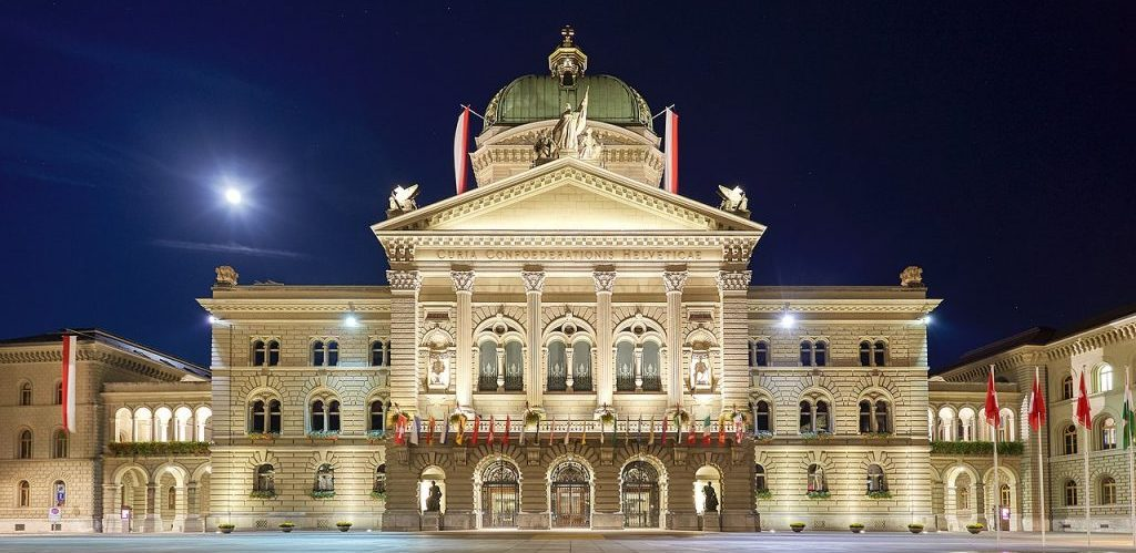 Federal Palace of Switzerland by Axel Tschentscher