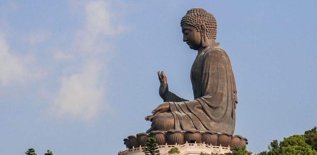 Tian Tan Buddha at Ngong Ping Lantau Island Hong Kong by Beria Lima de Rodriguez