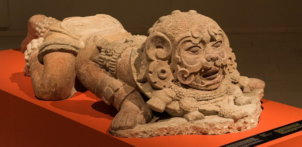Big sculpture of a Maya Warrior from San Migueal La Palotada Guatemala made between 250 600 AD by GorissM
