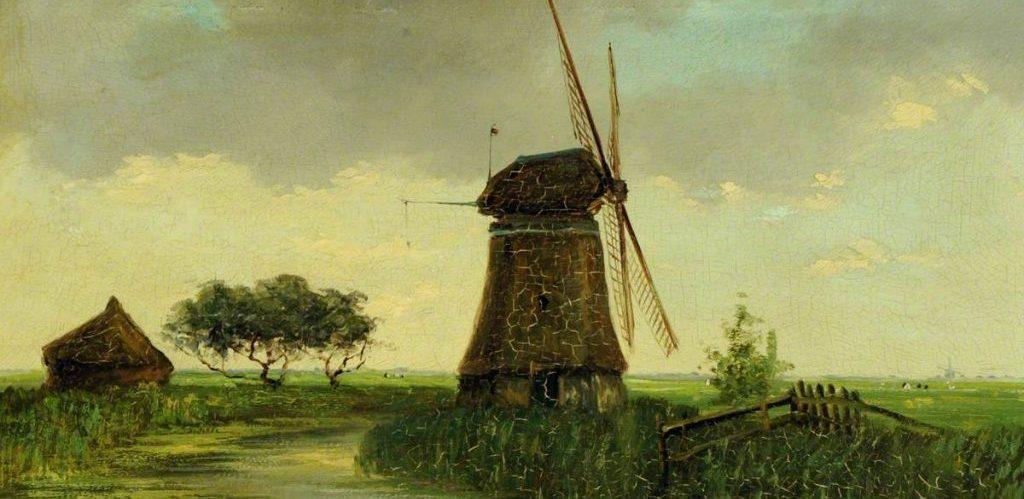 Cornelis Julius van Wickevoort Crommelin A Dutch Windmill