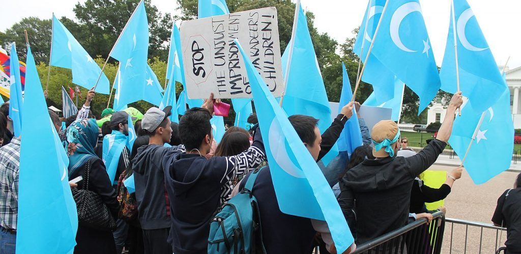 Uyghur demonstration for Human Rights by Elvert Barnes